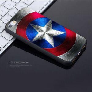 Capitan-America-los-Vengadores-Case-Iphone-5-5S-se-6-6S-7-8-PLUS-X-XS-XR-Max