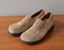 Footprints Birkenstocks Women's EU 38/7-7.5 N Suede Tan Loafers Shoes