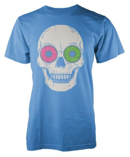 Funny Skull Donut eyes Adult T-Shirt