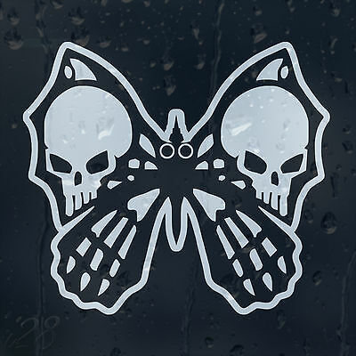 Butterfly Skull Car Decal Vinyl Sticker For Bumper Or Window Or Panel