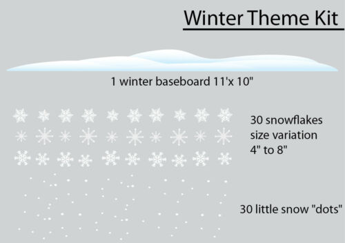 Winter Theme Wall Decal Kit