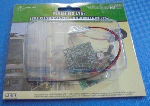 2x +new COLORS - Flashing LEDs - DIY Soldering Mini Kit Project - Velleman MK102