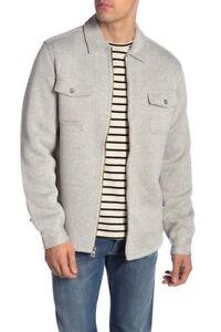 Weatherproof-Vintage-Full-Zip-Front-Fleece-Lined-Sweater-Jacket-Grey-Size-M-98