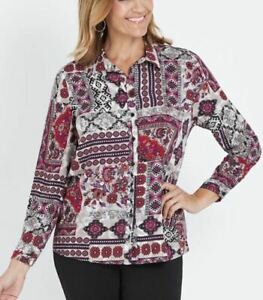 MILLERS-Shirt-Plus-Size-12-14-16-18-20-22-Top-Blouse-Pink-Long-Sleeve-Floral
