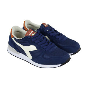 Details about Diadora Camaro 159886 C7743 Mens Blue Suede Casual Low Top Sneakers Shoes