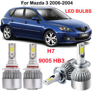 Image Is Loading 4pcs H7 9005 Hb3 Led Headlight Bulbs Kit