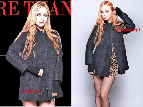 Tamao lana de abrigo de M Zara talla talla grande Nuevo negro wYvHYnB7