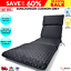 thumbnail 1 - Grey Sunlounger Cushion Outdoor Seat Cover Lounge Patio Chair UV Water Resistant