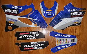 YAMAHA TEAM STAR RACING YAMALUBE YZ 85 GRAPHICS DECALS KIT YZ85 ( 2002 to 2014 )