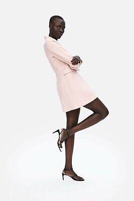 Luminosa Zara Tag Nuovo Di Zecca Con Doppio Pastello Rosa Bavero Palandrana Taglia L Rrp £ 69.99-mostra Il Titolo Originale