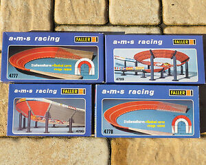 Faller AMS Rails num. 4777 and 4778 4-lane Steep curve, with