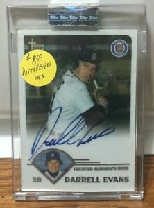 DETROIT TIGERS signed DARRELL EVANS - 2003 Topps - AUTHENTIC