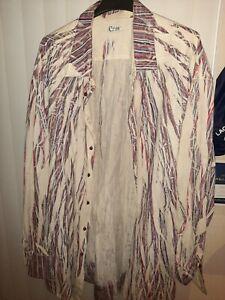 E-mc2-Mens-Dress-Shirt-Long-Sleeve-3-Button-Cuff-amp-100-Cotton-SIZE-6XL-PURPLE