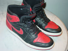 "1994 Nike Air Jordan Retro 1 ""Bred"" Banned Basketball Shoes! Size 9.5 Rare!"