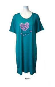 dresses L UK 10-12 Ladies 65/% polyester35/% cotton knitted print nighty