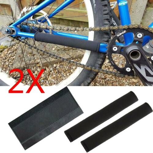 2PCS Bike Cycling Bicycle Frame Chain Stay Protector Guard Nylon Pad Cover Wrap