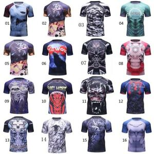 Details about UFC RashGuard MMA Garment Compression Wear Quick Dry Short  Sleeve BJJ Tee Shirt