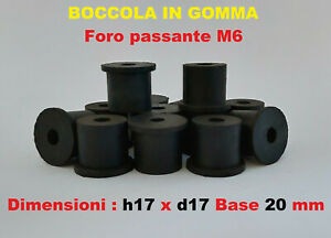 20 x Nero D15mm H15mm M5 Gomma Doppio Terminali Vite Antivibrazione Supporto
