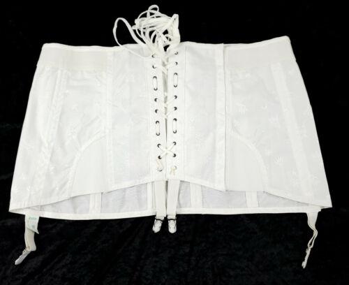 Vintage ADONNA Corset Girdle  Open Bottom Girdle  French Budoir  Garters  Shapewear-size large