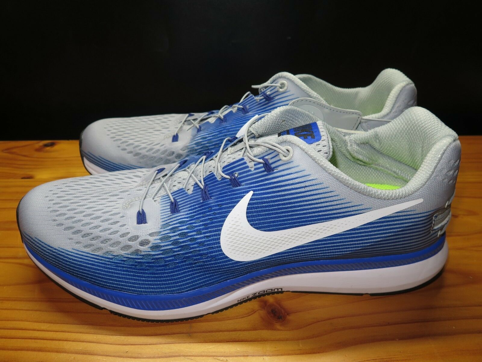 NEW Nike Air Zoom Pegasus 34 Flylease Wolf Grey bluee 904678-004 Size 12