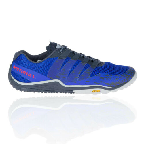 Merrell Mens Trail Glove 5 Running Shoes Trainers Sneakers Blue Sports