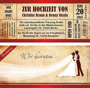 Einladungskarten Hochzeit Hochzeitskarten Vintage Rot Braun Mit
