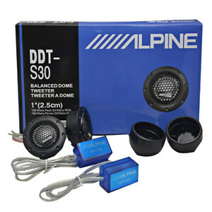 2XALPINE-DDT-S30-Car-Stereo-Speakers-Music-Soft-Dome-Balanced-Car-Tweeters-360W
