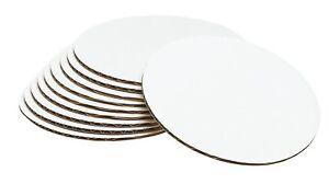 "Wilton 6 "" Circle Cake White Board Corrugated Cardboards Baking Decorating 10 Pk"