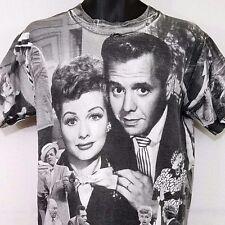 I Love Lucy T Shirt Vtg 90s Lucille Ball Desi Arnaz All Over Print Mens Medium