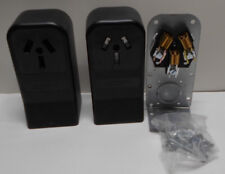 Lot of 4 Pass /& Seymour 385CC6 50A 125//250V 3W Surface Mount Range Outlets