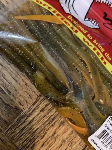Big Morsure Appâts Worm Craw ORANGE SWIRL