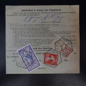 COLIS-POSTAL-BOLET-N-DE-LAEXPEDITION-ALSACIA-LORRAINE-PFASTATT-CAD-1922