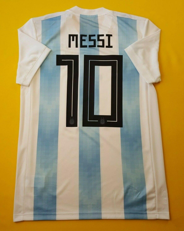 5+ 5 Messi plataina Fútbol medio 2018 Hogar Camiseta De Fútbol Adidas ig93 BQ9324