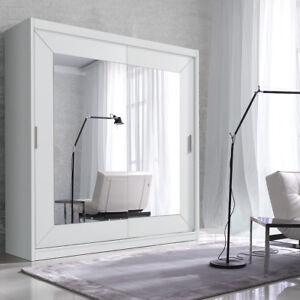 Kleiderschrank Alfa 180 cm Schwebetürenschrank Schlafzimmer Spiegel ...