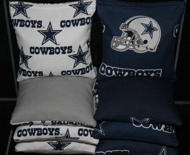 Cornhole Bean Bags made w DALLAS COWBOYS Fabric 8 ACA Regulation Game Toss Bags