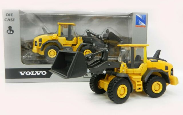"Volvo 60H Wheel Loader 5.5/"" Diecast With Plastic Construction New Ray Toy Yellow"