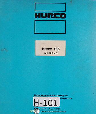 Hurco Autobend IV Single Servo Gauging System Operator Instructions Manual 1980