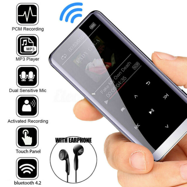 Portable Walkman 8GB 16GB Bluetooth MP3 MP4 Player Fashion Touch Key Player