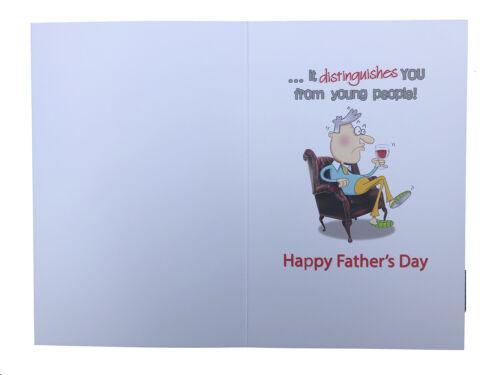Fête des pères papa Cheveux Gris vous rend Design Humour Funny Happy Pères Jour Carte