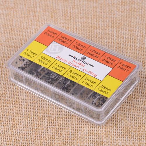 Gummi-Uhr-Rohr-Kronen-O-Ring Kasten-Satz für wasserdichte Uhr-Dichtung 1.4-2.8mm