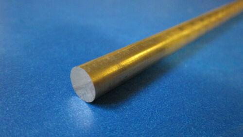 "1//2 Free Machining Brass .5/"" Alloy 360 Round Bar x 12/"" Brass Rod"