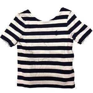 0e3b74126 Polo Ralph Lauren Little GIrls Stripe T-Shirt Navy White 2T 4T 6 6X ...