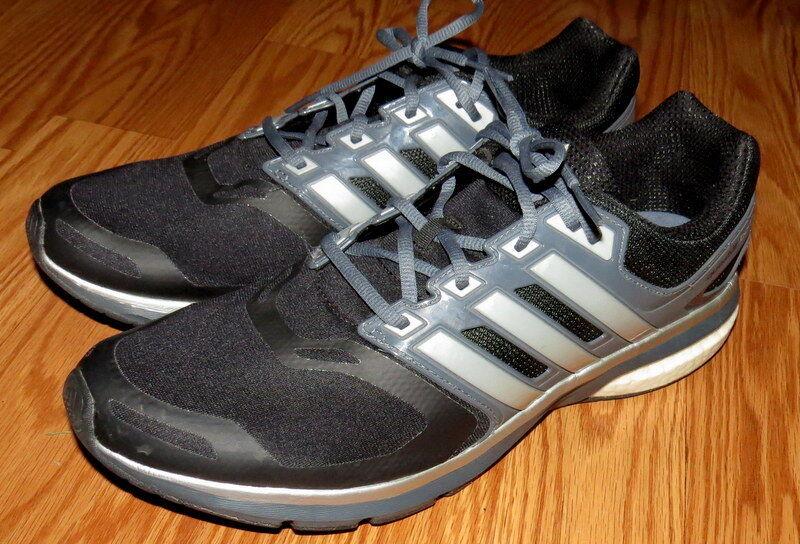 Adidas homme noir Questar Boost fonctionnement athlétique chaussures-Sz 12.5-EEUC