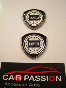 Emblem-Stud-Side-Lancia-Delta-Badge-Emblem-Sign-Logo-Escudo-Pair-Coupl
