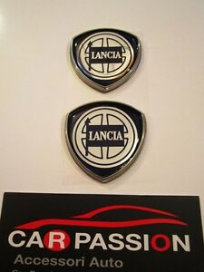stemma-LANCIA-DELTA-montante-porta-laterale-badge-emblem-logo-emblem-coppia
