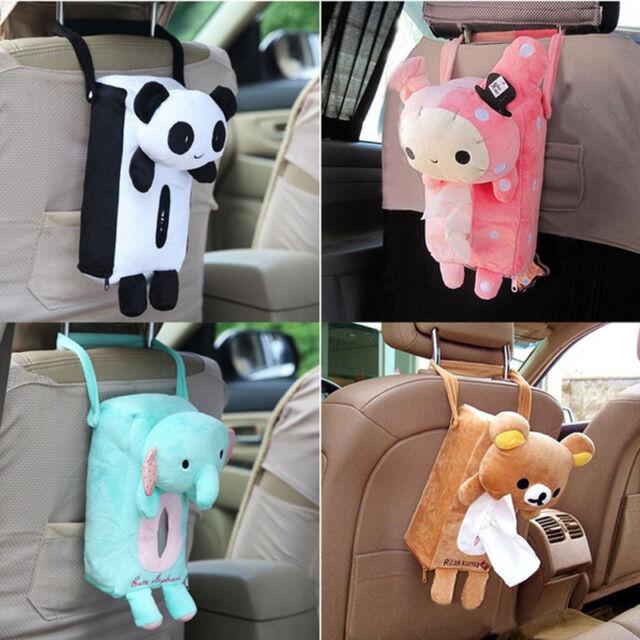 Cute Cotton Animals  Tissue Holder Paper Box Bathroom Storage Car Office Decor