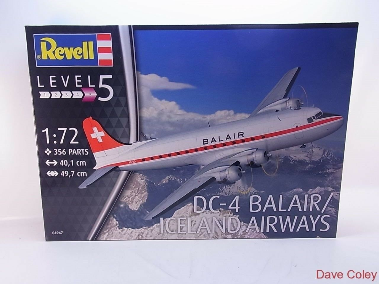 Revell 4947 1 72nd scale DC-4 Balair or Iceland Airways new kit free UK Postage