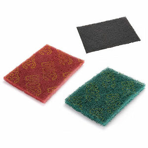 5/10/20PCS Scotch-brite Scoch Abrasive Finishing Pads Ceaning Scouring 3COLOURS | eBay