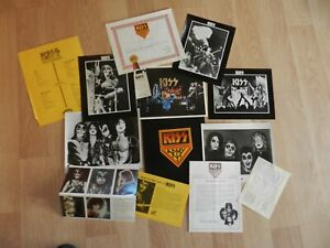 KISS Army Kit Pre-Destroyer Incl. Vol. 1 No. 1 Newsletter 6 8x10 Photos & more