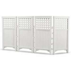 Suncast Outdoor Garden Yard 4 Panel Screen Enclosure Gated